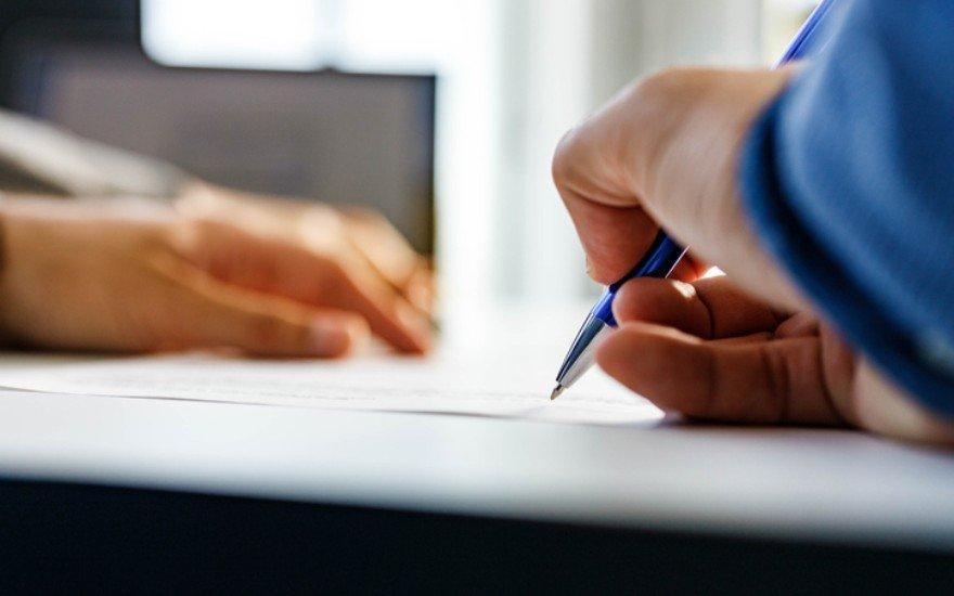 Długopis wdłoni